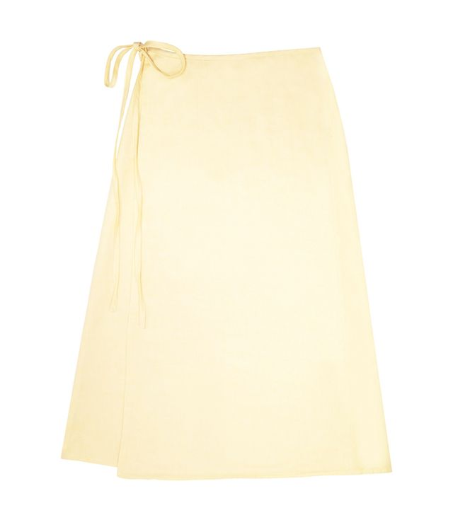 Lisa Says Gah Capri Linen Wrap Skirt