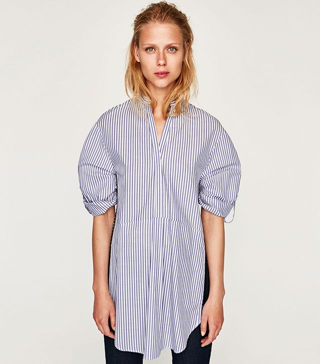 Zara Blouse With Side Detail