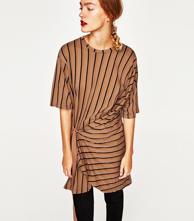 Zara Dress With Buckle Detail
