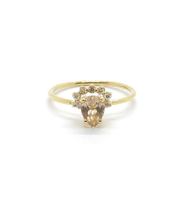 we moncheribridals rings manning from melissa engagement nontraditional striking joy this non wedding loveeee traditional