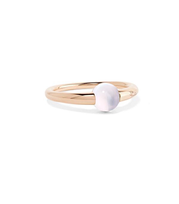 M'ama Non M'ama 18-karat Rose Gold Moonstone Ring