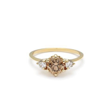 hazeline three stone ring - Non Traditional Wedding Rings