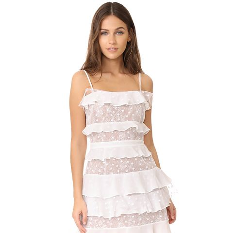 Cosmic Tiered Lace Dress
