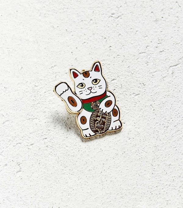 Pintrill Lucky Cat Pin