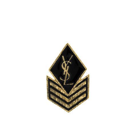Logo Patch Brooch