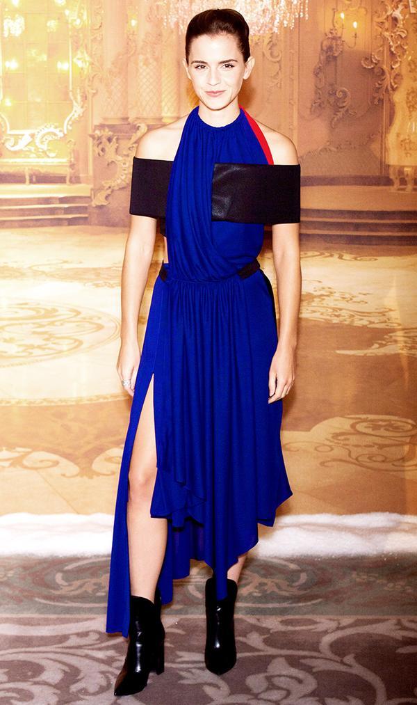 Emma Watson Blue Dress