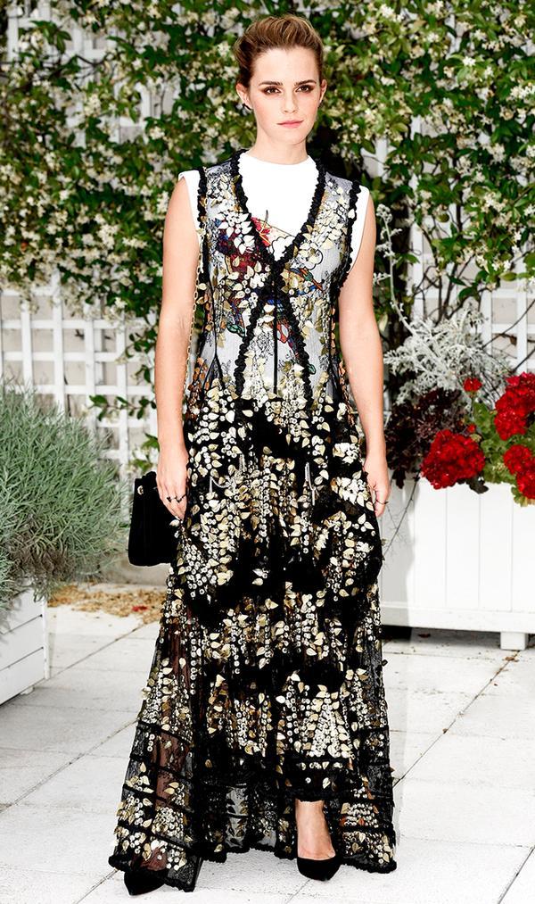 Emma Watson Floral Dress