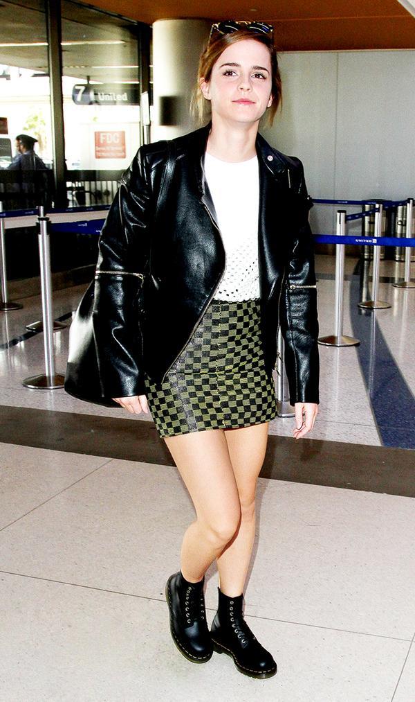 Emma Watson Moto Leather Jacket