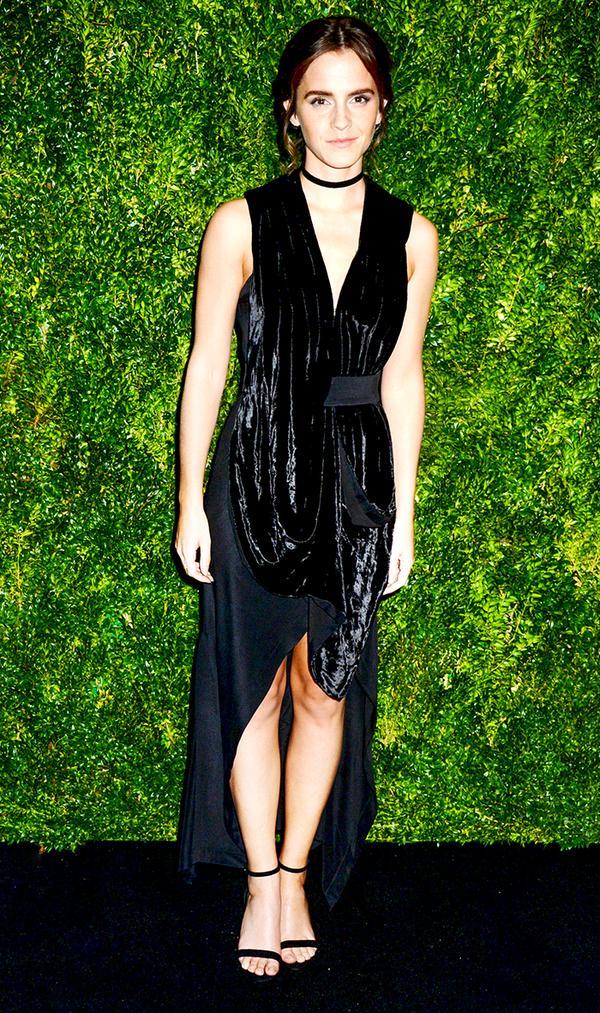 Emma Watson Velvet Dress