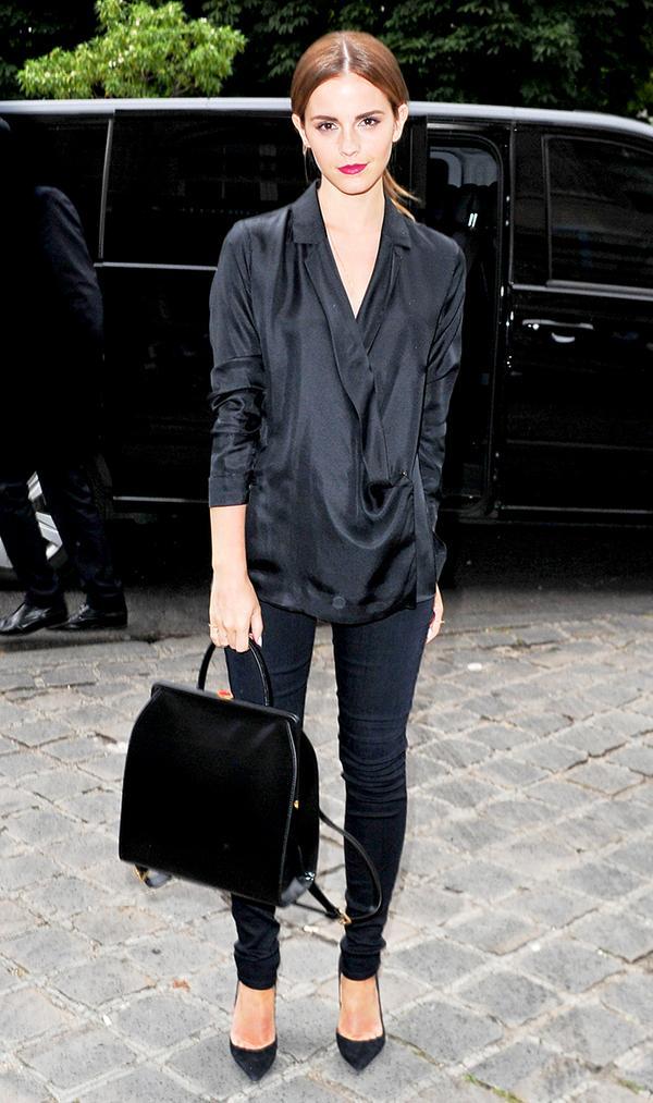Emma Watson Black Backpack