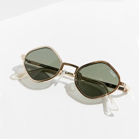 Purple Honey Geometric Sunglasses