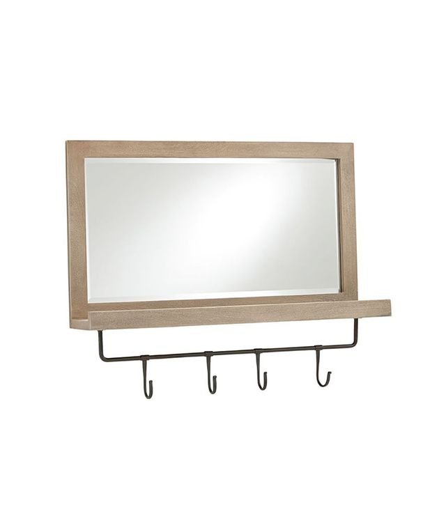 Pottery Barn Lucy Mirror With Hooks