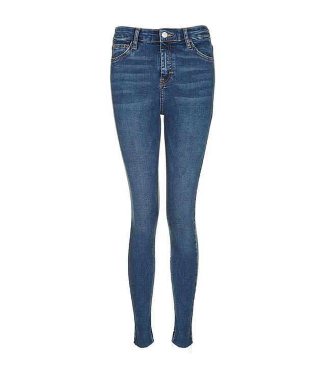 MOTO Rich Indigo Raw Hem Jamie Jeans