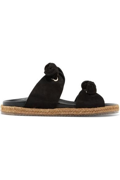 Nixon Knotted Suede Slides