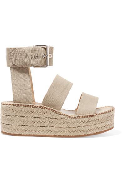 Tara Canvas Espadrille Platform Sandals