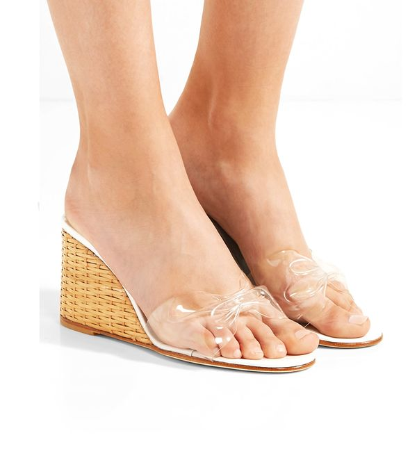 Wicker Wedge Pvc Sandals