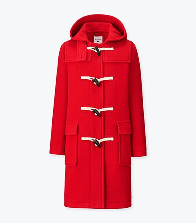 J W Anderson x Uniqlo: Red duffle coat