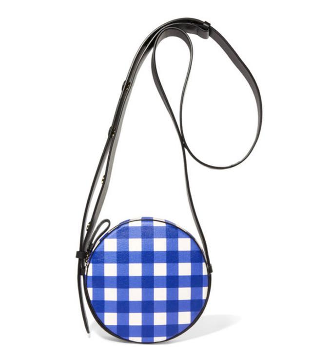 Best round bags: Diane Von Furstenberg gingham circle bag