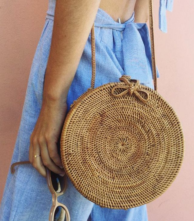 Best round bags: Posse straw bag