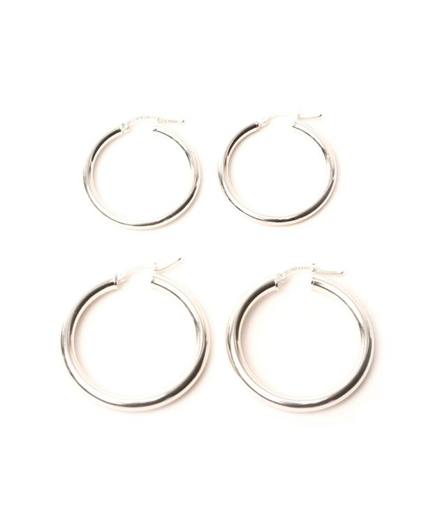 Tictail Silver Rounded Hoops in Large