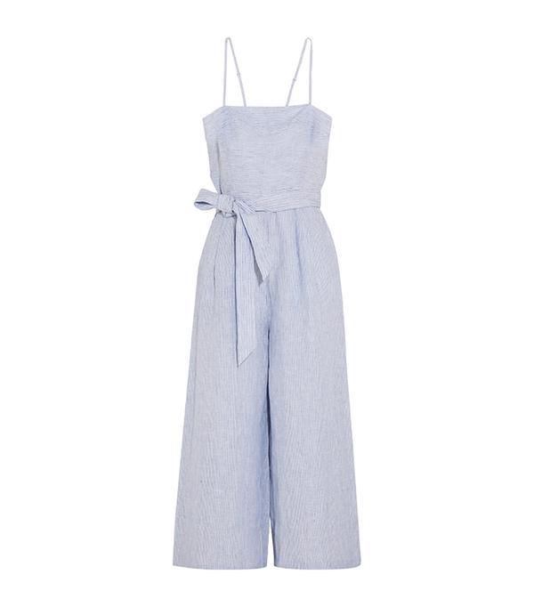Marseille Pinstriped Linen Jumpsuit
