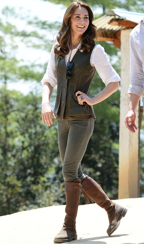 Kate Middleton cute hiking outfit