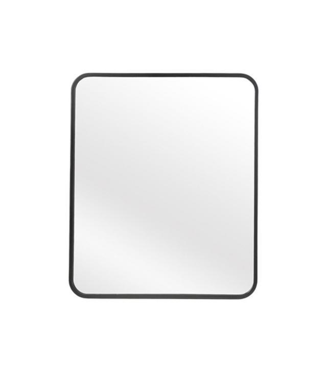 Threshold Metal Framed Wall Mirror in Black