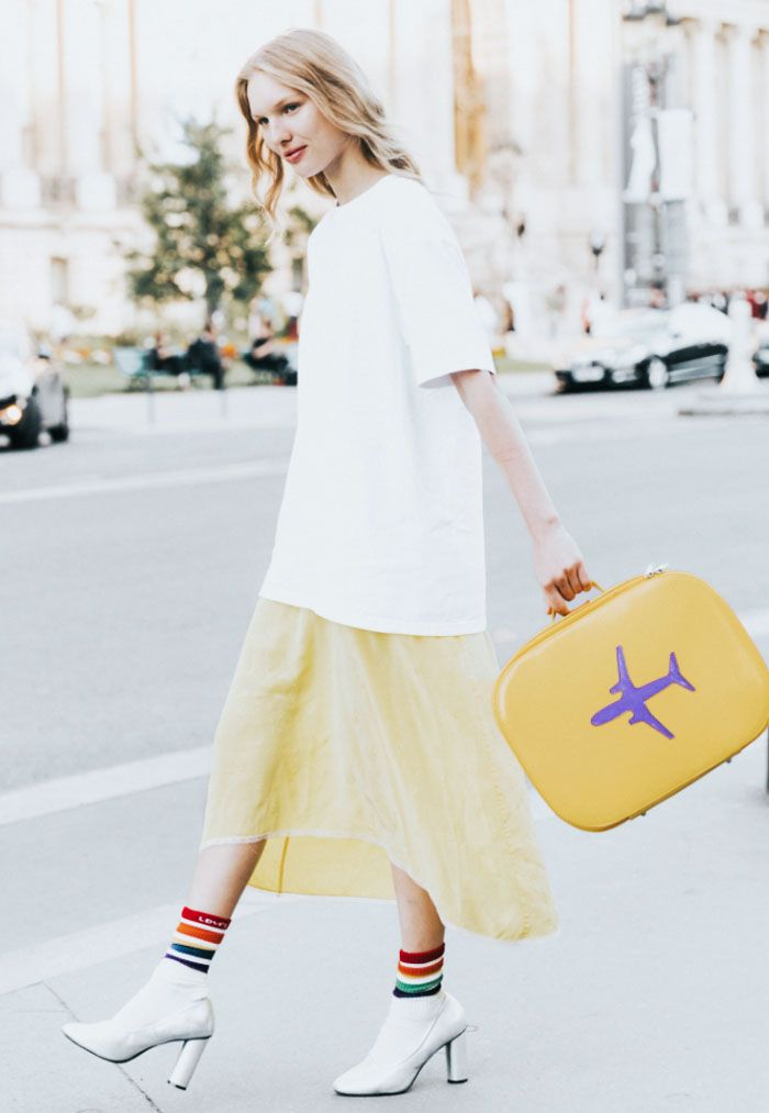 What to Wear to Get Upgraded on a Flight: Collage Vintage