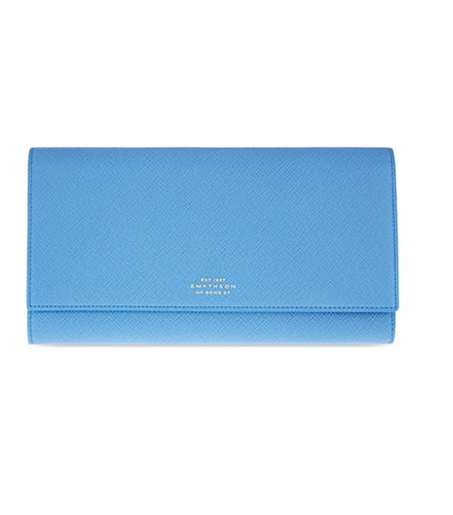What to wear on a flight to get upgraded: Smythson wallet