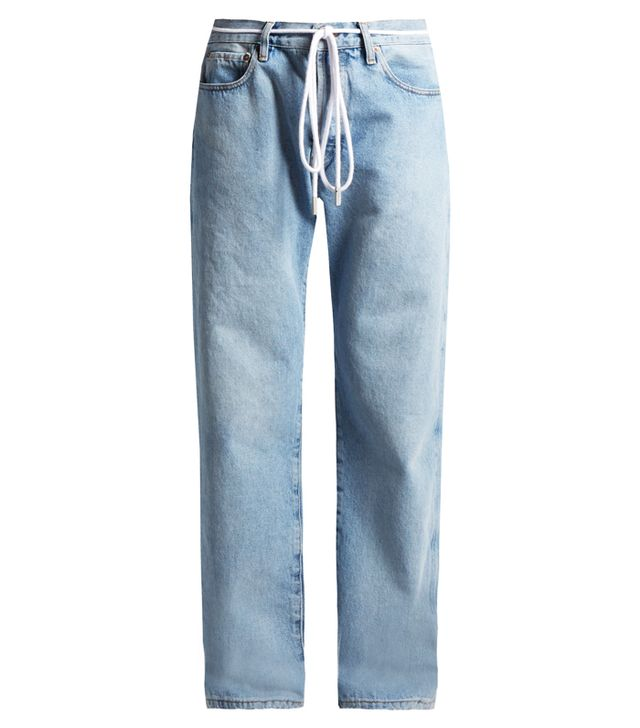 Low slung jeans: Off-white