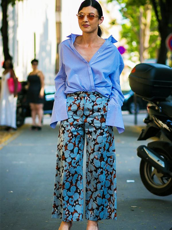 Graduation Outfit Ideas: Printed Trousers