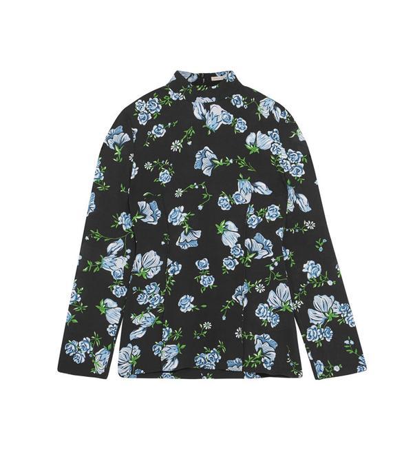 Graduation Outfit Ideas: Emilia Wickstead Rhonda Printed Crepe Blouse