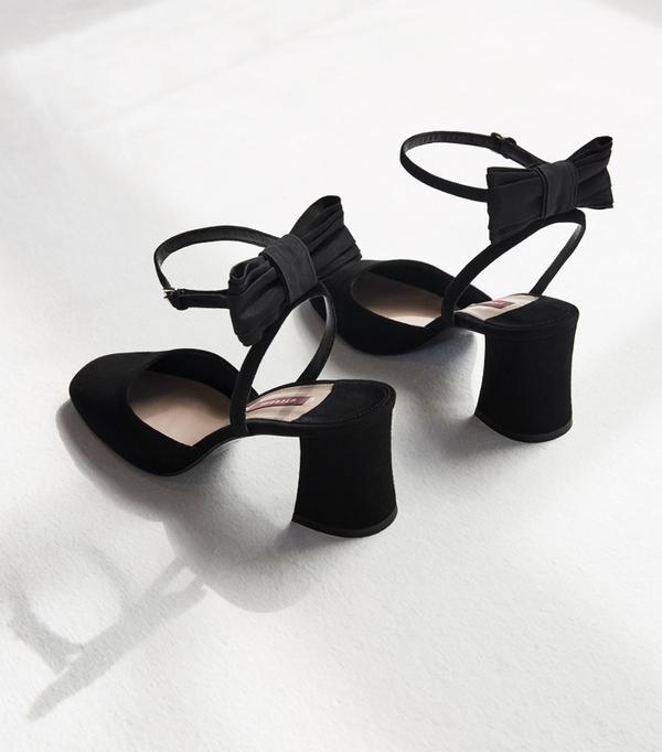 Graduation outfit ideas: Uterque Suede Slingback Shoes