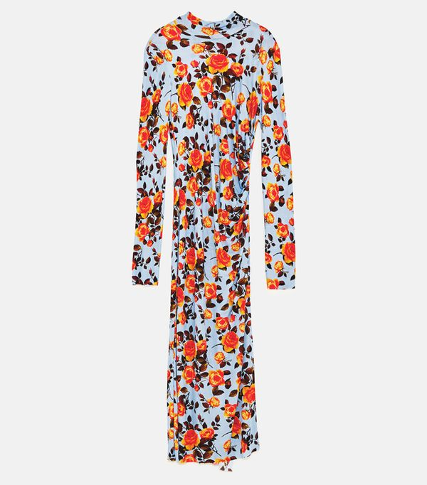 Graduation Outfit Ideas: Zara Floral Printed Dress