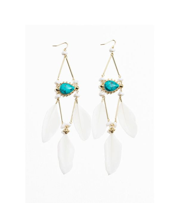 Graduation outfit ideas: feather Pending Earrings