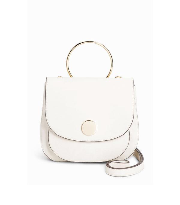 Graduation outfit ideas: White Circle Detail Saddle Bag