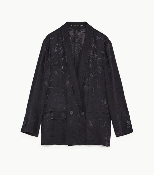 Graduation outfit ideas: Zara flowing jacquard jacket