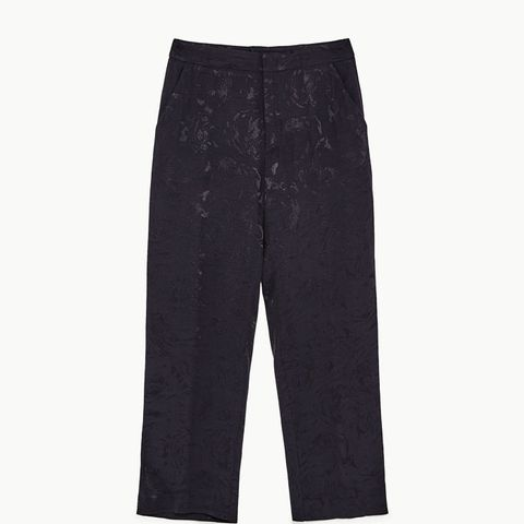 Loose-Fitting Jacquard Trousers