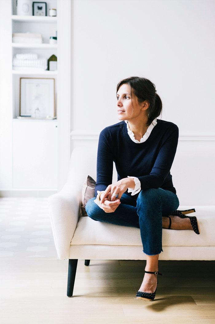 French office attire: Morgane Sezalory