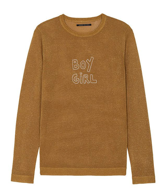 J Brand x Bella Freud Sparkle Boy Girl Jumper