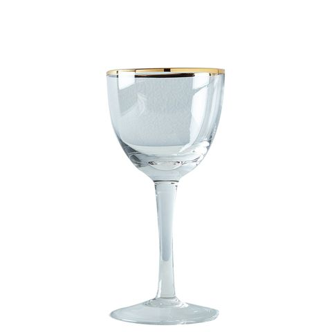 Metallic Rimmed Cocktail Glasses