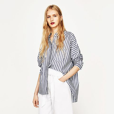 Oversized Striped Shirt