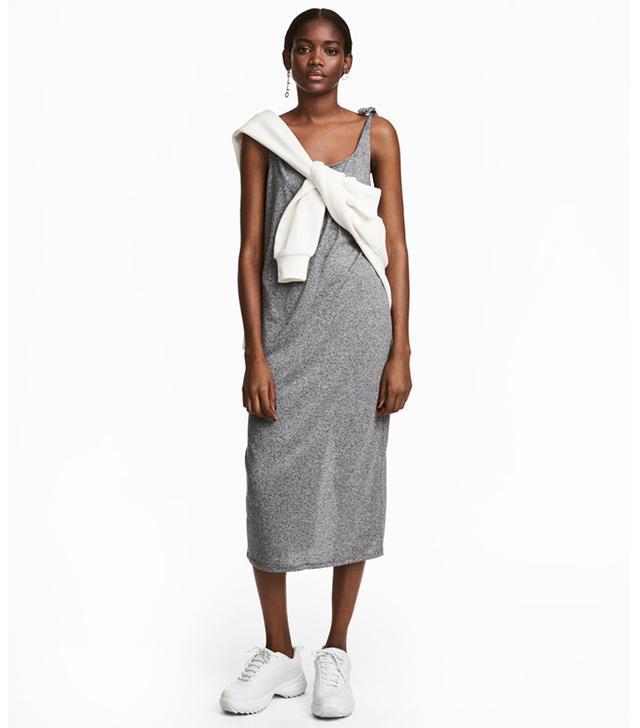 Calf-length Jersey Dress