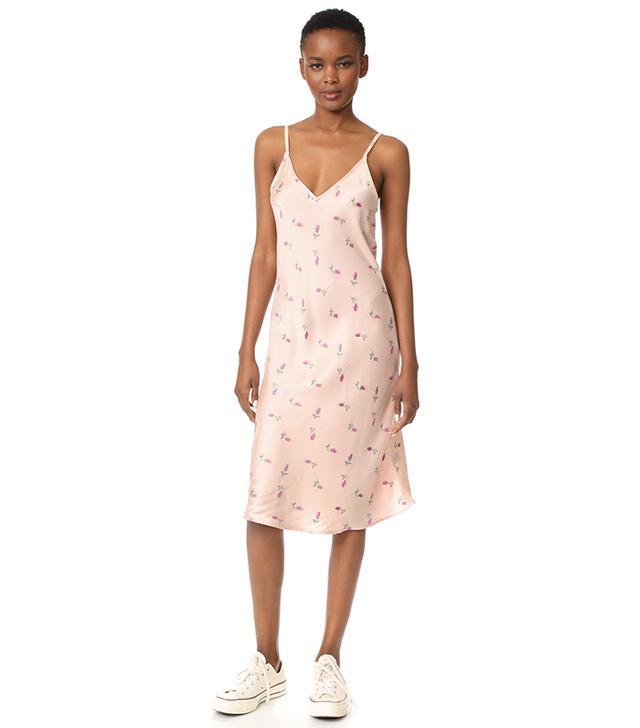 Printed Floral Slip Dress