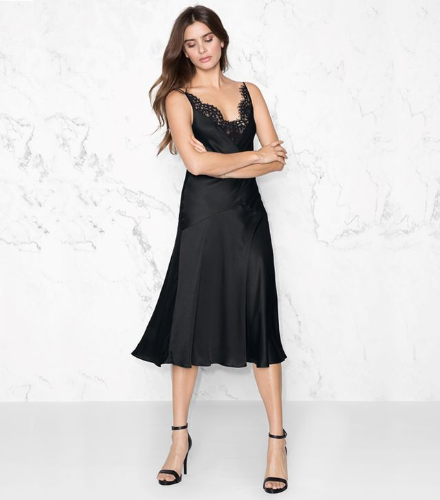 V-Lace Slip Dress