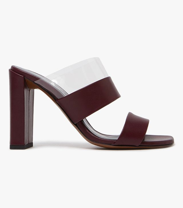 Heel in Burgundy/Transparent