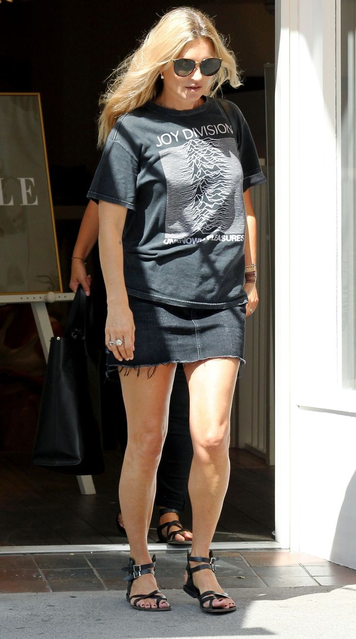 Kate Moss in a Miniskirt