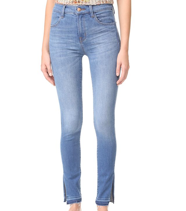 Maria High Rise Skinny Jeans with Side Slits