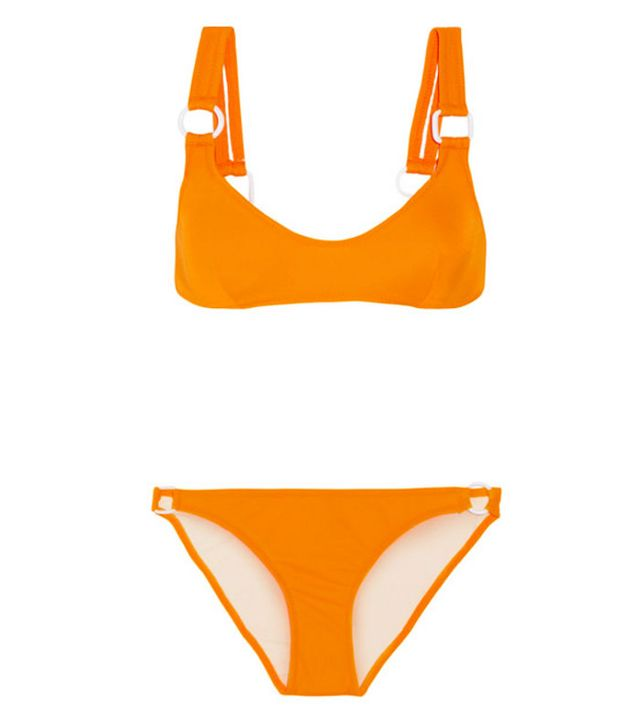 Hailey Baldwin bikinis: Solid and Striped Romy