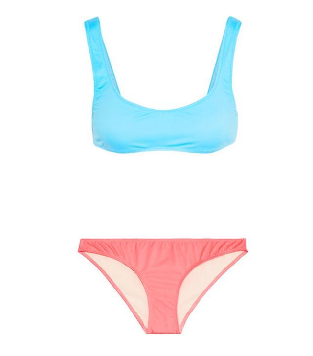 Hailey Baldwin bikinis: Solid and Striped Elle